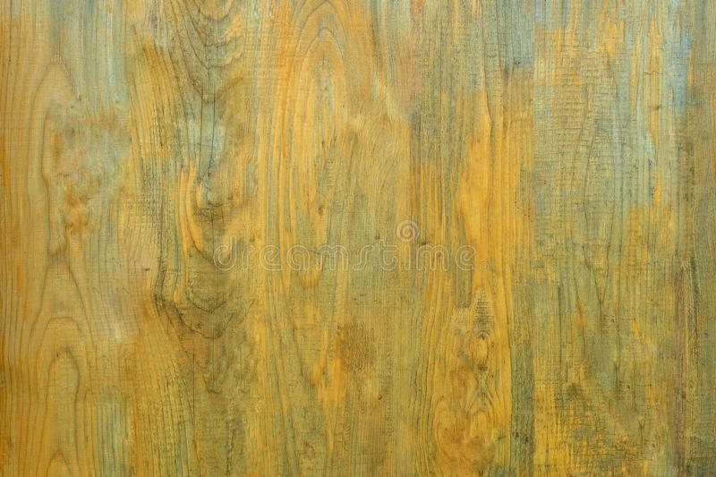 Background of yellow old smooth Wooden texture stock images