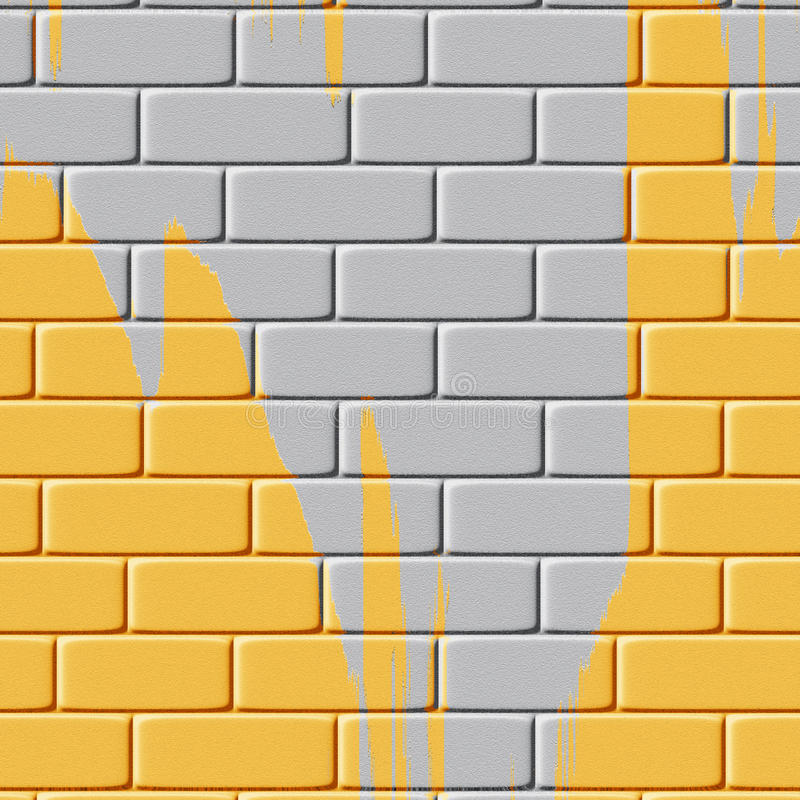 Download Background Of Yellow Painted Brick Wall Royalty Free Stock Photos - Image: 24663658