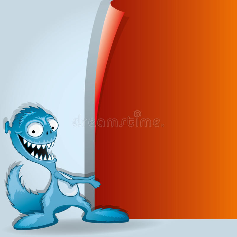 Background for your text. Monster. Vector background for your text. Funny monster royalty free illustration