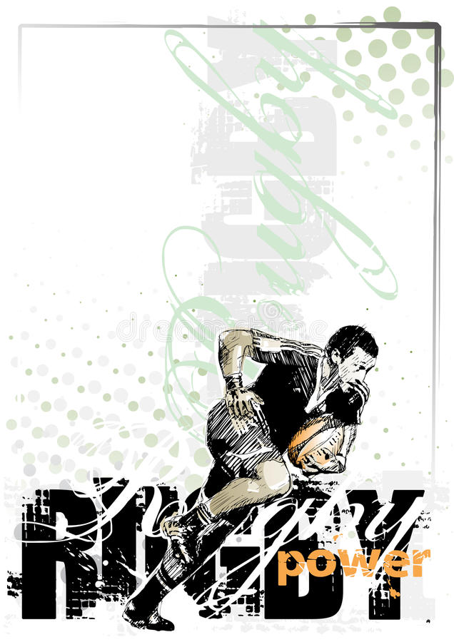background1 rugby royalty ilustracja