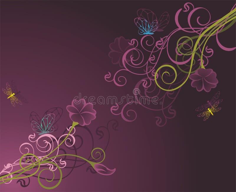 background2 floral διανυσματική απεικόνιση