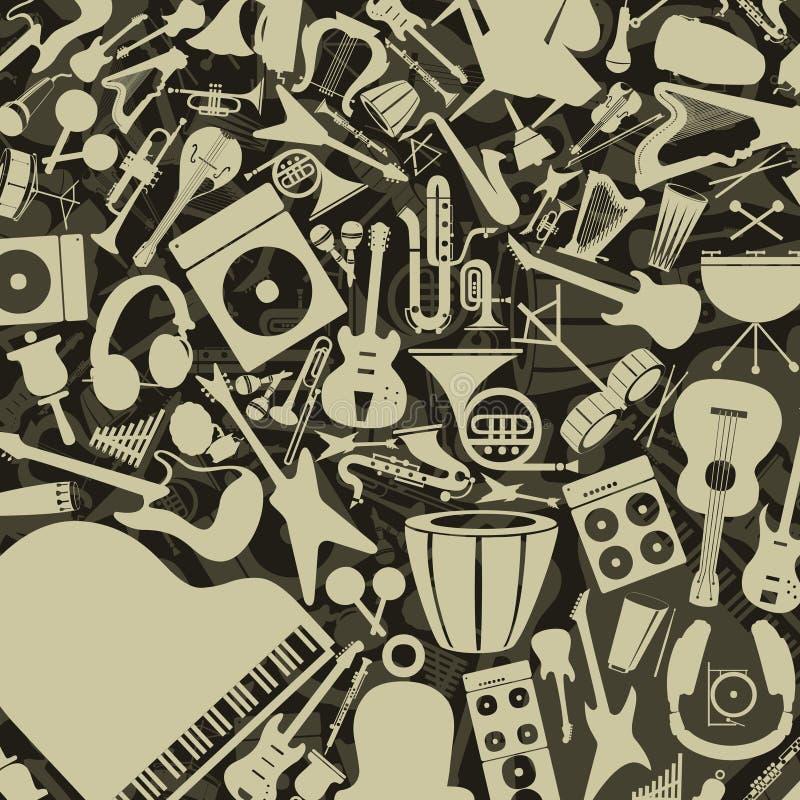 background9 μουσικός διανυσματική απεικόνιση