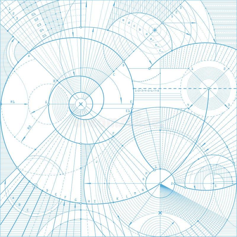 Backgroundb técnico stock de ilustración