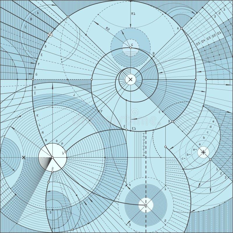 backgroundd techniczny ilustracja wektor