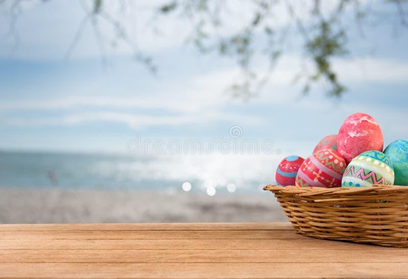BackgroundEaster-Eier stockbilder