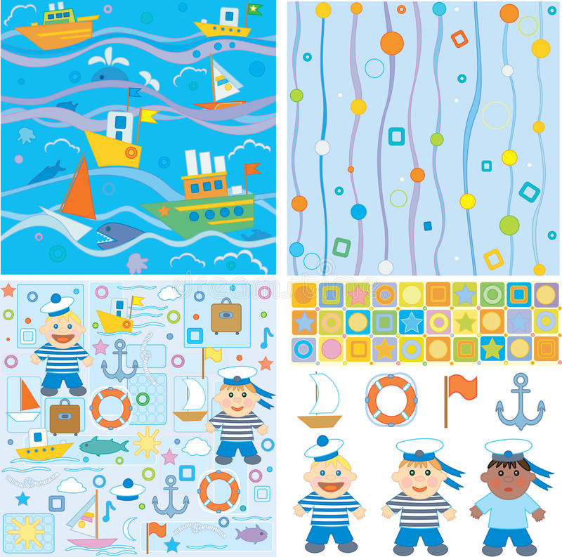 Download Backgrounds And Design Elements For Baby Boy Royalty Free Stock Image - Image: 11908946
