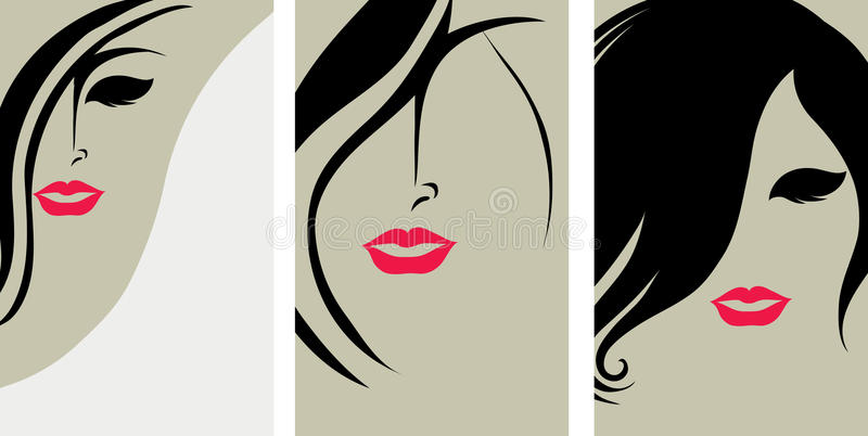 Backgrounds with hair styling vector illustration