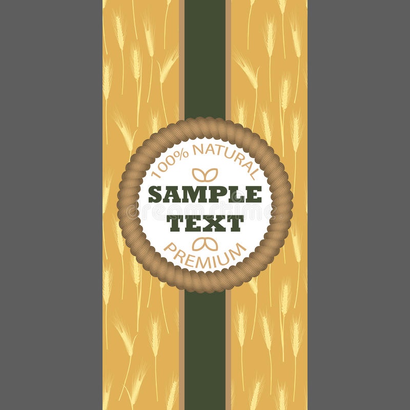 Backgrounds for label package banner Seamless pattern with wheat ears vector illustration