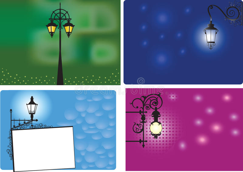 Download Backgrounds With Lanterns stock vector. Image of electric - 20764670