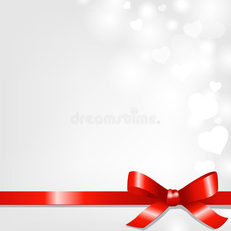 Backgrounds With Red Ribbon And Hearts Stock Images