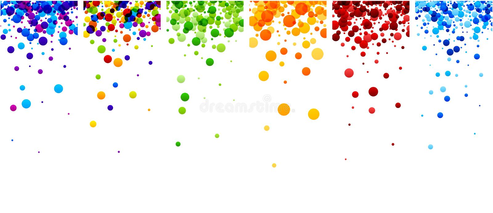 Backgrounds set with color drops. White paper backgrounds set with color drops. Vector illustration royalty free illustration