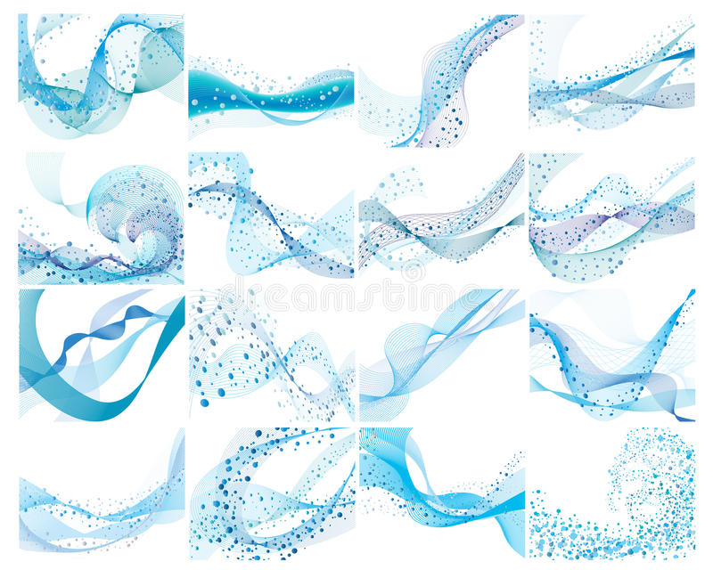 backgrounds set water ελεύθερη απεικόνιση δικαιώματος