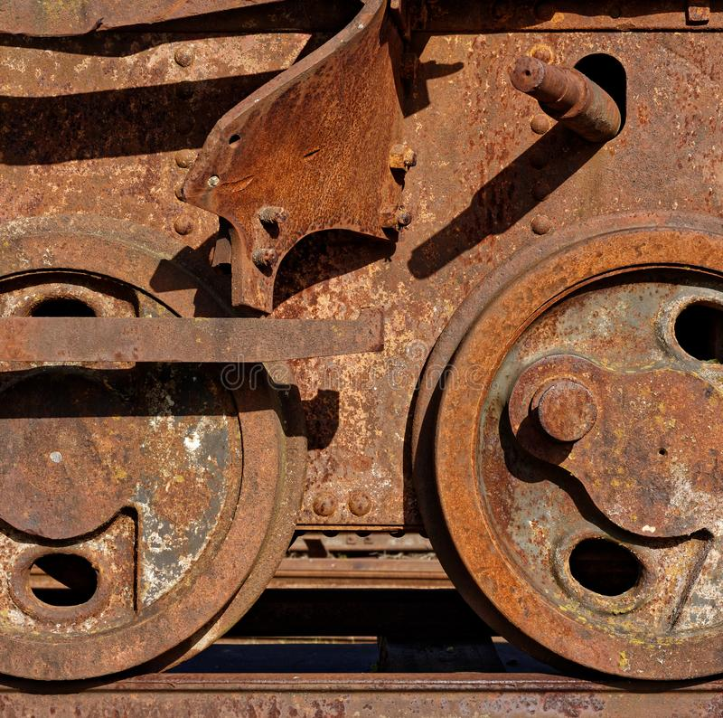Abandoned railway car royalty free stock image