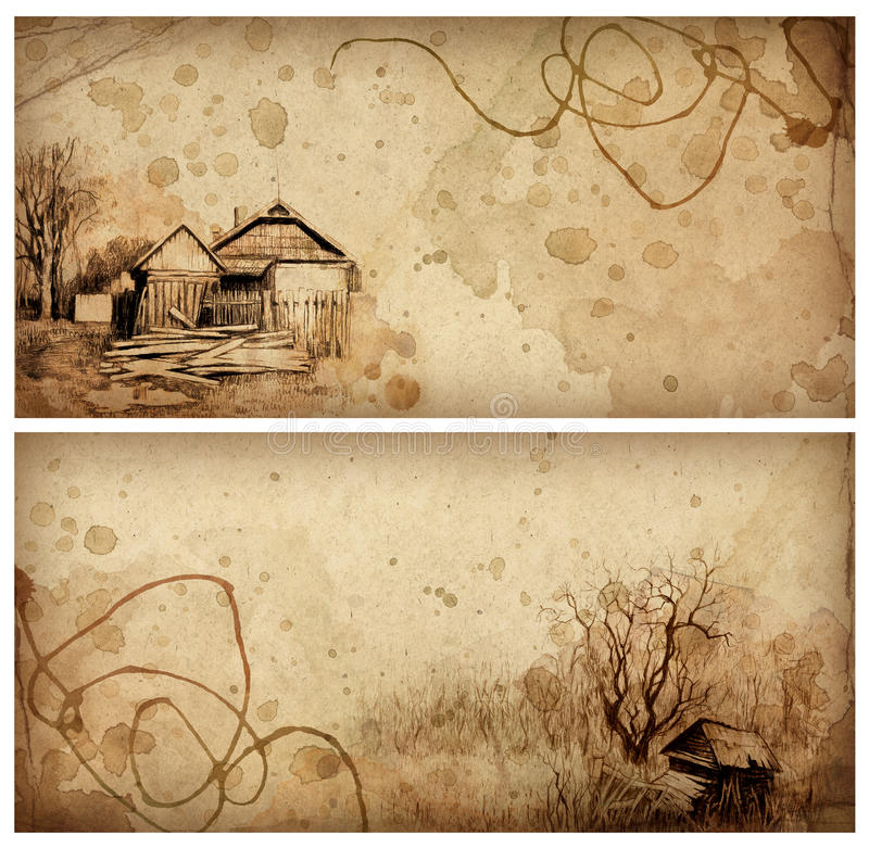 Free Backgrounds With Pencil Drawing Royalty Free Stock Photography - 18749717