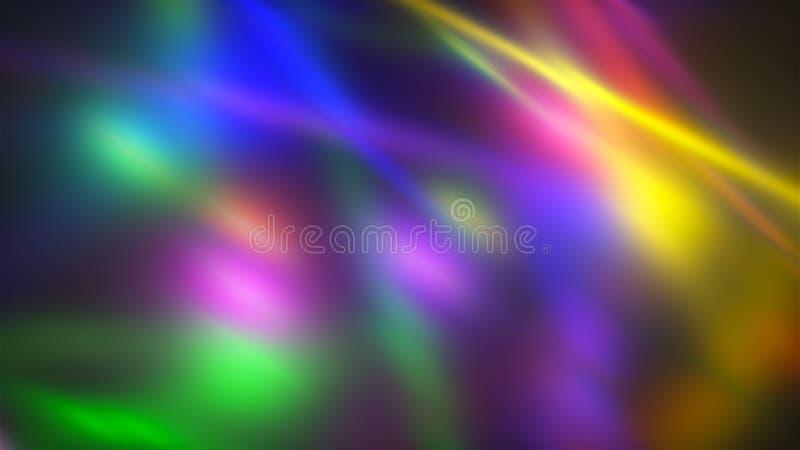 Backgroung con las luces caóticas brillantes con efecto de la falta de definición, 3d rinde el ejemplo generado por ordenador stock de ilustración