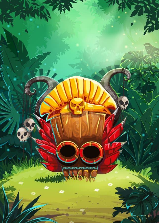 Backgroung dos curandeiros da selva ilustração stock