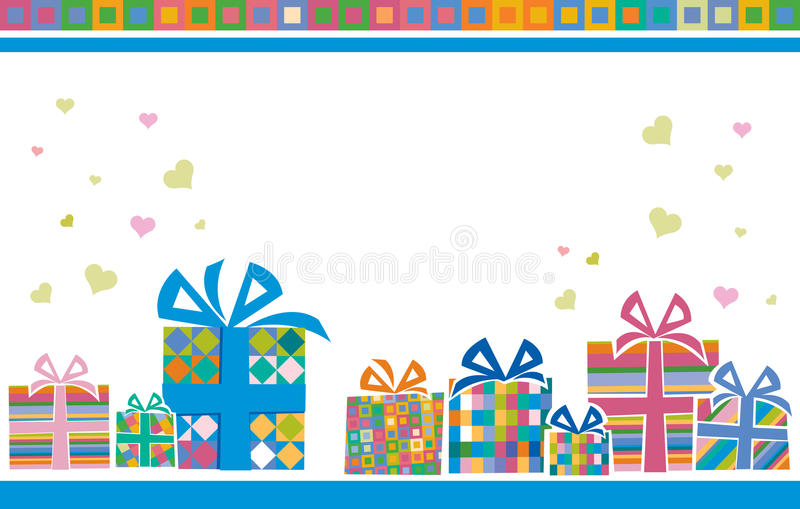 Download Backgroung with gift boxes stock vector. Illustration of present - 15240947
