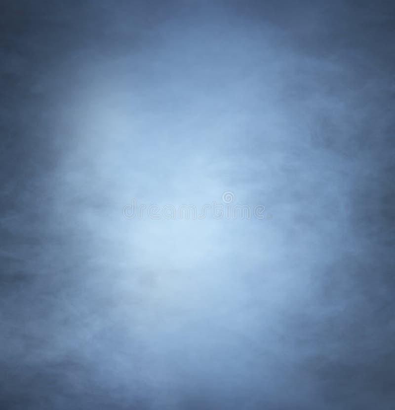 Backgroung wizerunek głęboki błękita światło i dym zdjęcie stock