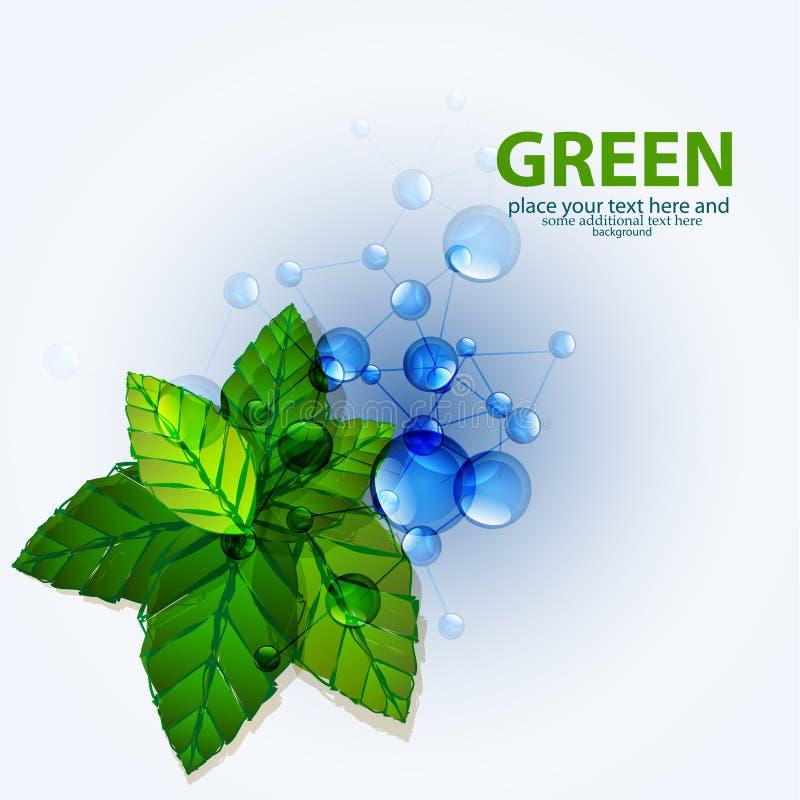 Backgrouns verts de molécules de vecteur illustration de vecteur