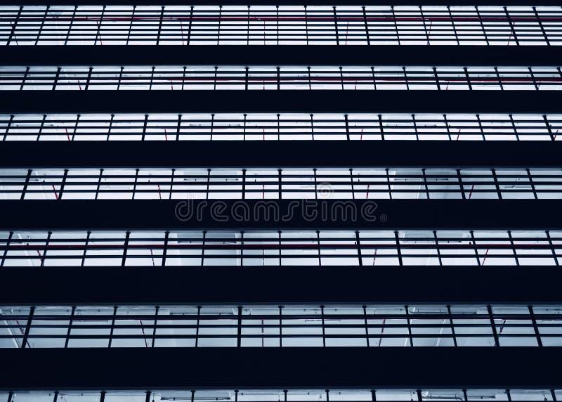 Backgruond abstrait de construction moderne extérieur de lampe au néon de modèle de châssis de fenêtre d'architecture photographie stock libre de droits