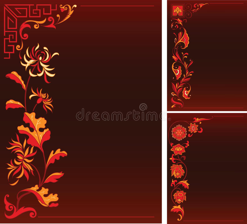 Download Backgruonds With Floral Decor Stock Vector - Image: 19060011
