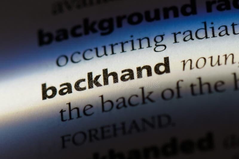 backhand fotografie stock libere da diritti