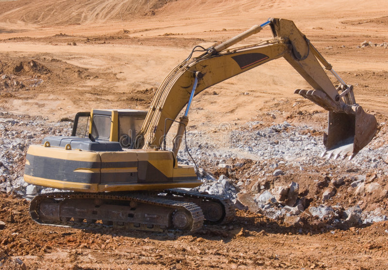 Download Backhoe stock image. Image of debris, yellow, diesel, excavate - 3435161