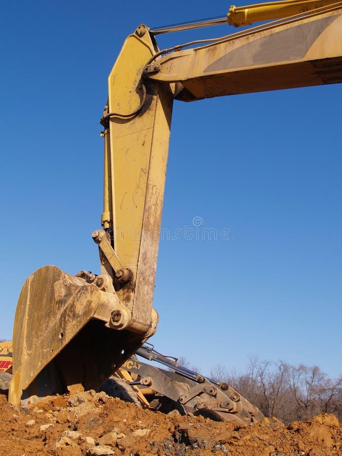 Backhoe bouwapparatuur royalty-vrije stock afbeeldingen