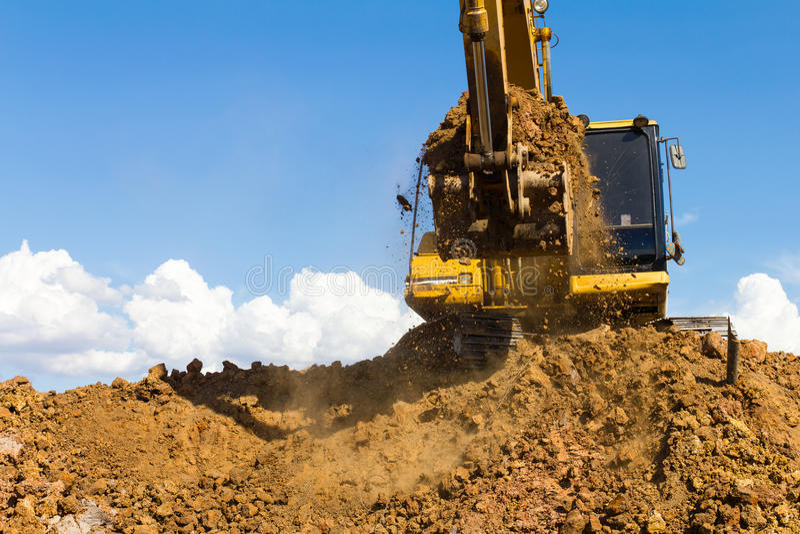 Backhoe digging royalty free stock image