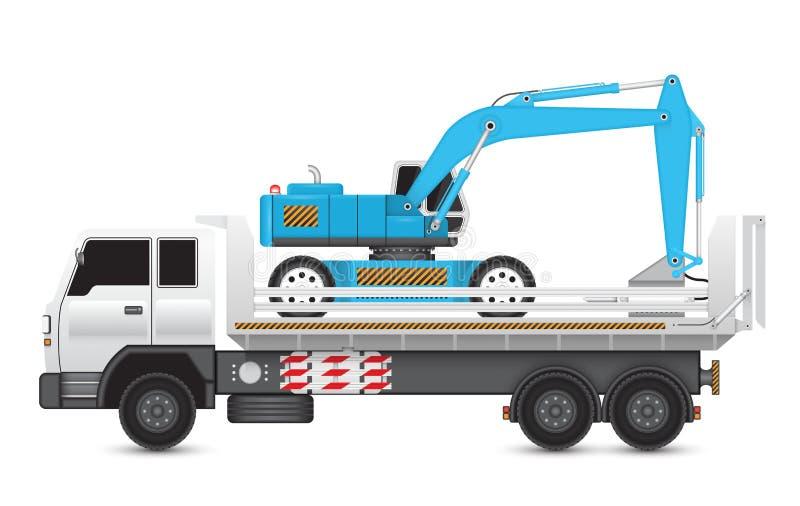 Backhoe_hydraulics_hammer illustration stock