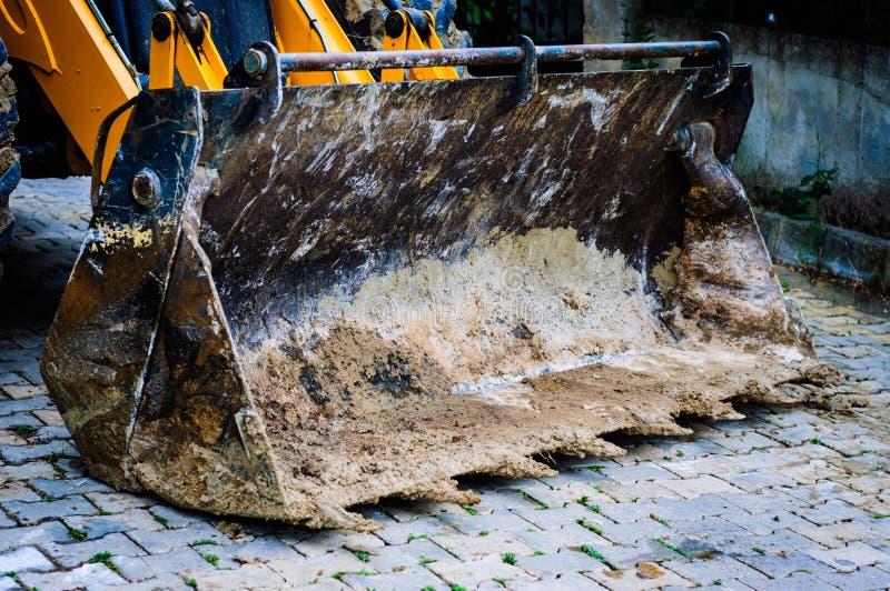 Backhoe Lader Front Detail royalty-vrije stock afbeelding