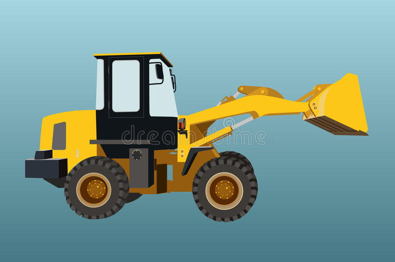 Backhoe ladermachines geïsoleerde vector vector illustratie
