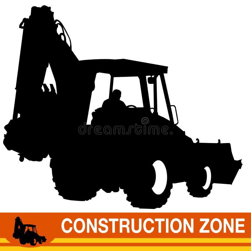 Backhoe Loader Construction Vehicle. An image of a backhoe loader construction vehicle royalty free illustration