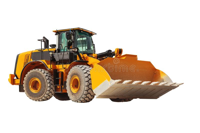 Backhoe loader - excavator with clipping path isolated. Backhoe loader excavator with clipping path isolated on white background royalty free stock image