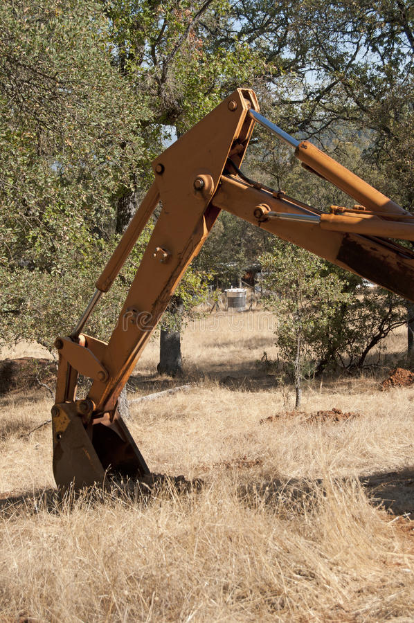 Download Backhoe out in the field stock photo. Image of bulldozer - 17366770