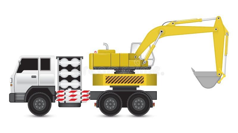 Backhoe_truck illustration stock