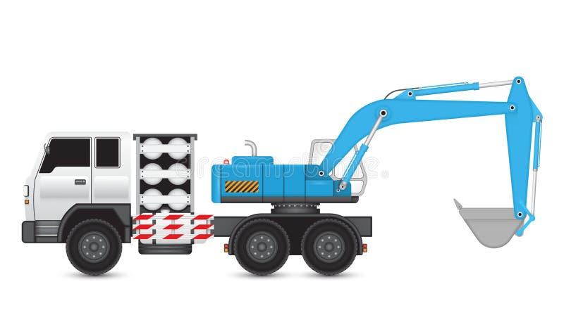 Backhoe_truck illustration de vecteur