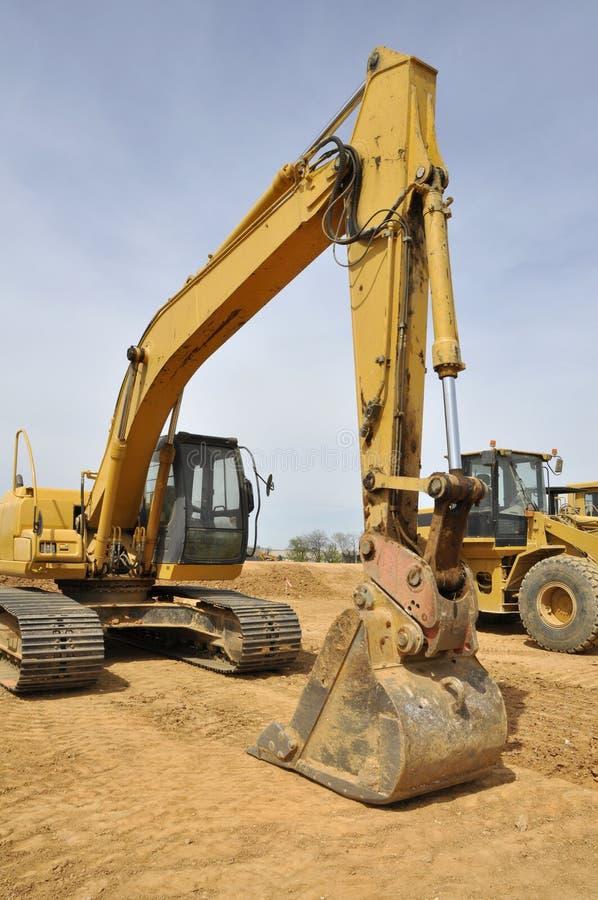 Backhoe van de bouw stock fotografie
