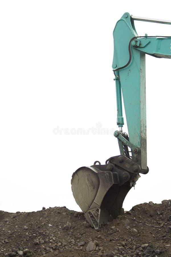 Backhoe van het graafwerktuig stock afbeelding