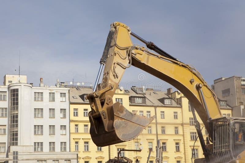 Backhoe van uitgravingsvoertuig royalty-vrije stock foto