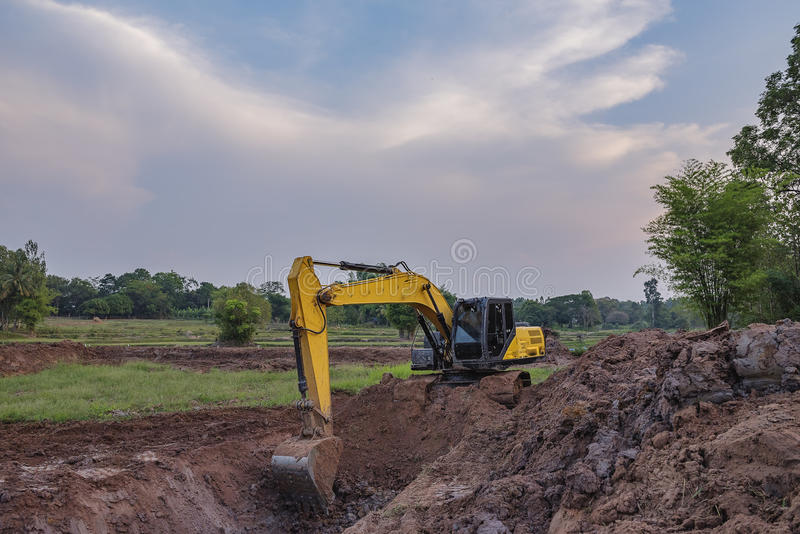 Backhoe stock images