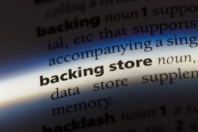 backingstore stock image