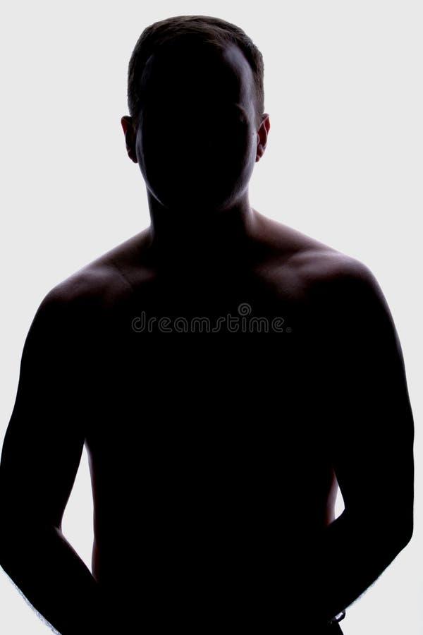 Backlight αρσενικό Στοκ Φωτογραφίες