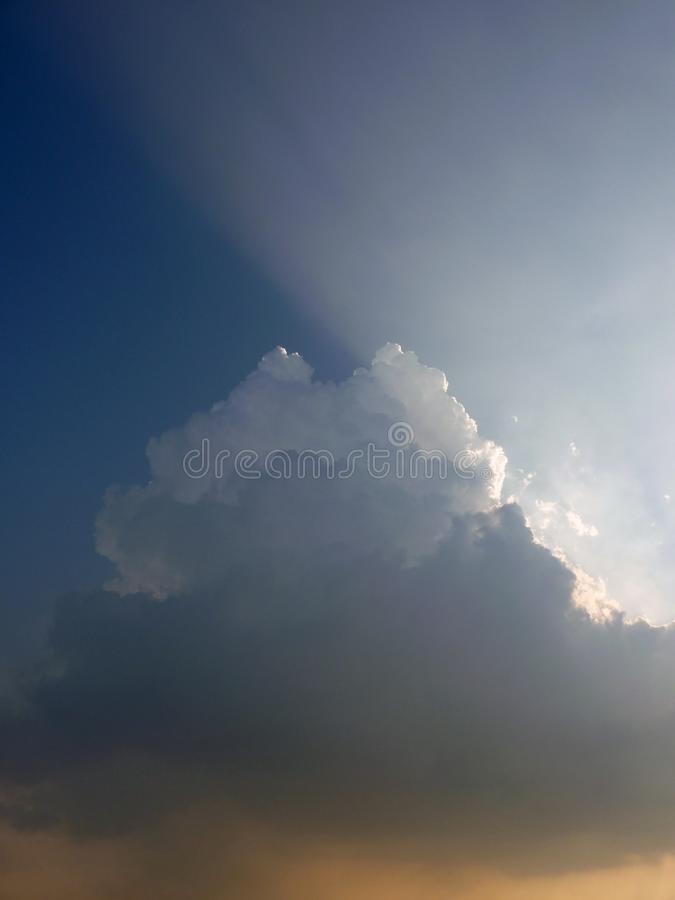 Backlight clouds royalty free stock images