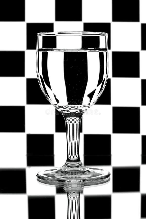 backlight czarny szkieł biały wino obrazy stock