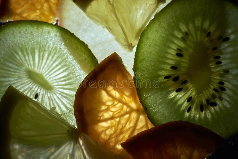 Backlight fruit stock photo