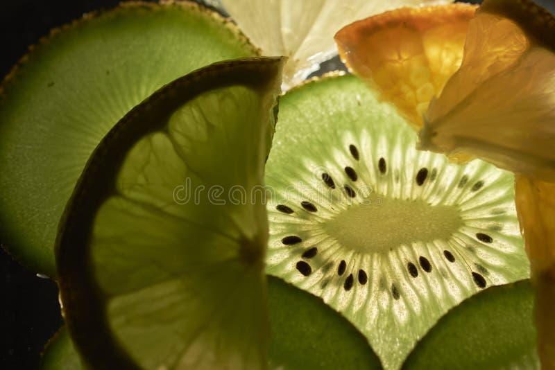 Backlight fruit stock photos