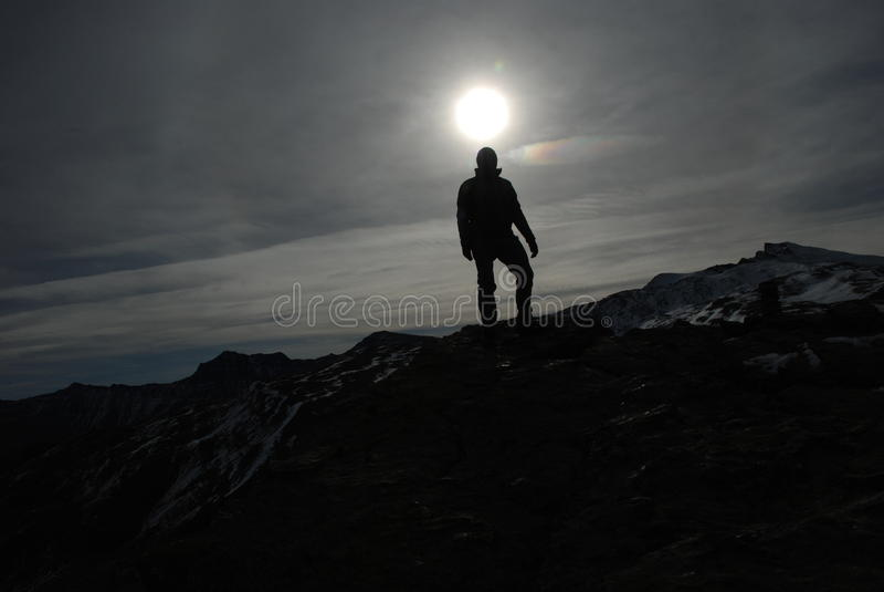 Backlight mountain royalty free stock image