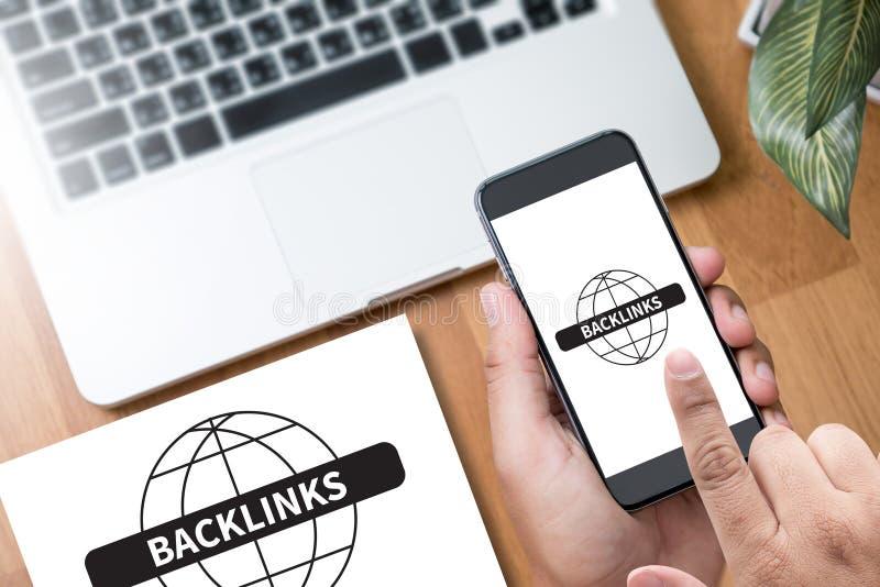 Backlinks imagens de stock