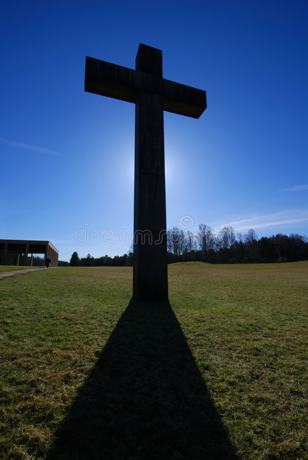 Backlit Cross royalty free stock photo